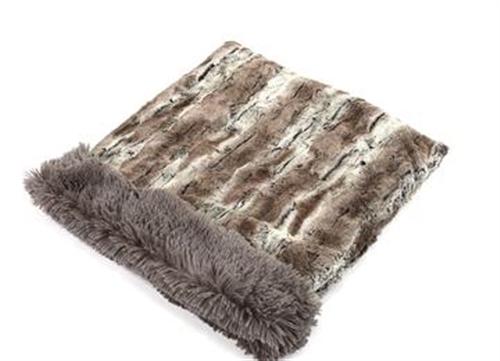 Mountain Fox with Grey Shag Cuddle Pouch