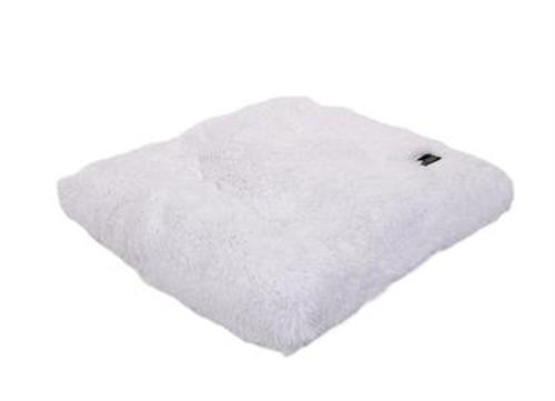 White Shag Pillow Bed