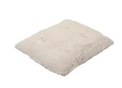 Cream Shag Pillow Bed