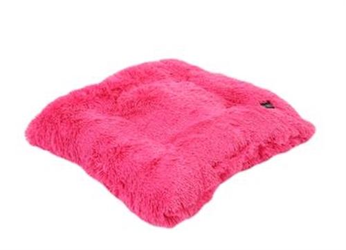 Hot Pink  Shag Pillow Bed