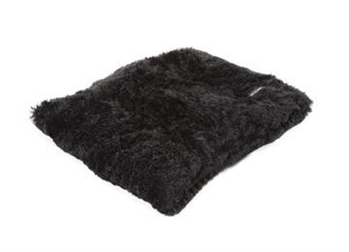 Black Shag Pillow Bed