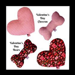 Valentine Collection Heart and Bone Dog Toys