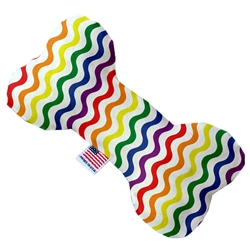 Rainbow Fun Stripes Pride Bone Dog Toy