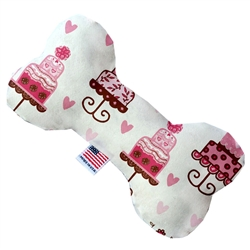 Pink Fancy Cakes Bone Dog Toy