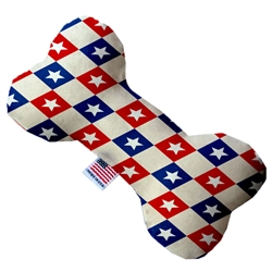 Patriotic Checkered Stars Bone Dog Toy