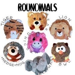 Roundimal Squeaky Dog Toys