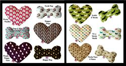 Canine Collection Bone and Heart Dog Toys