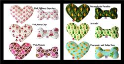 Tasty Treats Collection Heart and Bone Dog Toys