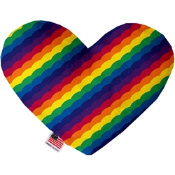 Scalloped Rainbow Pride Heart Dog Toy
