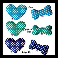 Swiss Dots Collection Heart and Bone Dog Toys