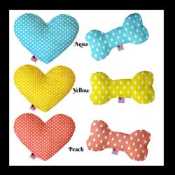 Polka Dots Collection Heart and Bone Dog Toys