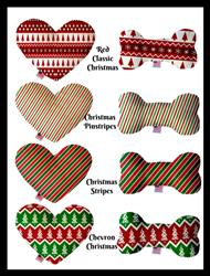Christmas Collection Bone and Heart Dog Toys