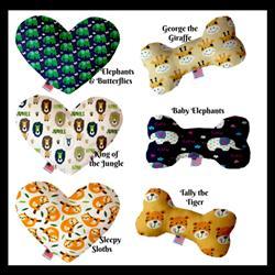 Safari Friends Collection Heart and Bone Dog Toys
