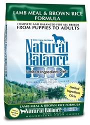 Natural Balance L.I.D. Lamb Meal & Brown Rice Formula Dry Dog Food 28lb