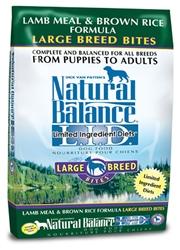 Natural Balance L.I.D. Lamb Meal & Brown Rice Large Breed Bites Dry Dog Food 28lb