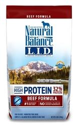 Natural Balance LID High Protein Beef Formula