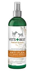 Veterinarian's Best Natural Anti-Flea Easy Spray Shampoo 16oz