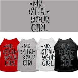 Mr. Steal your Girl Screen Print Dog Shirt