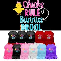 Chicks Rule Screen Print Dog Dress