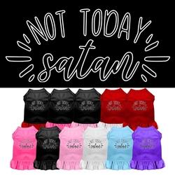 Not Today Satan Screen Print Dog Dress