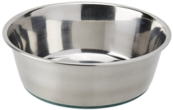 Van Ness Stainless Steel Small Dish with Non Skid Rubber Bottom 24 Ounce