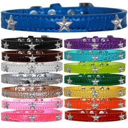 Silver Star Widget Croc Dog Collar