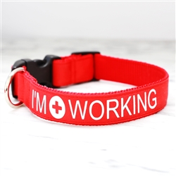 """I'm Working"" Service Dog Collars & Leashes"