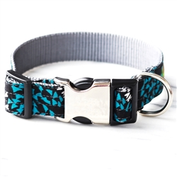 'Blue Algae' Cotton Voile Dog Collars & Leashes