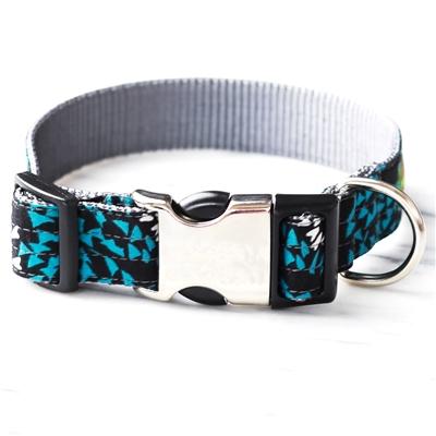 'Blue Algae' Cotton Voile Dog Collars & Leashes