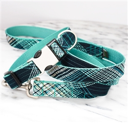 'Coleman' Plaidl Cotton Voile Dog Collars & Leashes