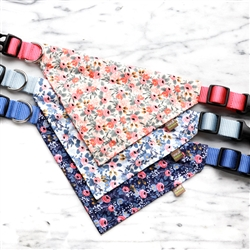 Rifle Paper Co. Fabric Bandana Dog Collars  — 2 Floral Patterns