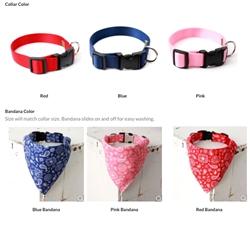 Bandana Dog Collars  — 3 Colors
