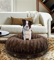 Bagel Bed - Wild Kingdom and Godiva Brown or Customize your Own