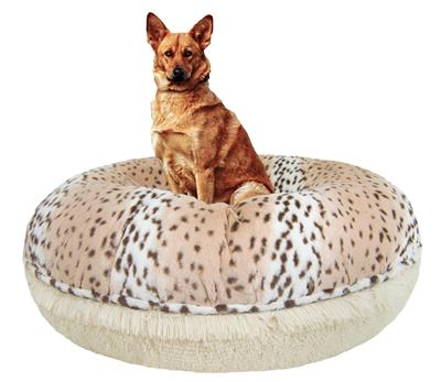 Bagel Bed - Aspen Snow Leopard and Blondie or Customize your Own