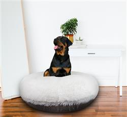 Bagel Bed - Serenity Grey and Snow White or Customize your Own