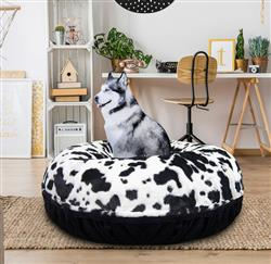 Bagel Bed - Black Puma and Spotted Pony or Customize your Own