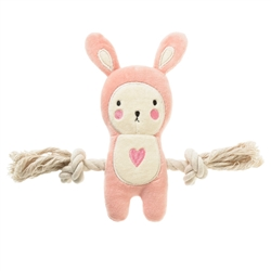 Jill Pink Bunny Rope toy (NEW)