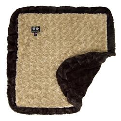 Blanket-  Camel Rose and Godiva Brown or  Custom Blanket