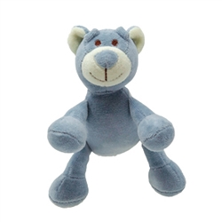 "Beginnings Wally 4"" Blue Bear (NEW)"