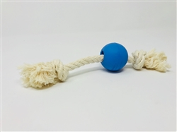 Blue Rubber Ball Rope toy