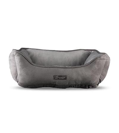 Reversible Gray / Light Gray Cuddler Beds - 25 In X 21 Inches
