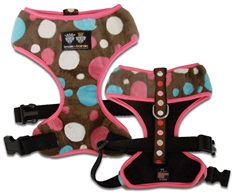 Mesh Comfort Dog Harness with Cover - Cake Pop/ Blushing Dots/ Pink
