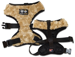 Mesh Comfort Dog Harness with Cover - Camel Rose and Black
