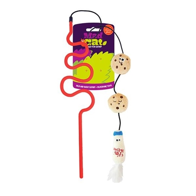 Mad Cat®  Cookies and Milk Wand CAT TOY w/Catnip & Silvervine -  4 Pack $16.00 ($4.00 EA)