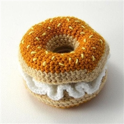COTTON CROCHET BAGEL & CREAMCHEESE