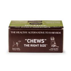 Earth Animal No Hide Pork Chews Dog Treats 27 piece counter Display Box