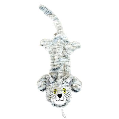 Grey Flat Cat Dog Toy w/ Rope