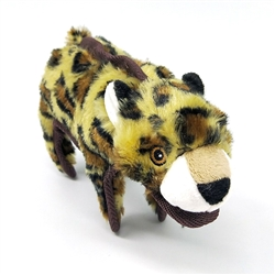 Leopard Dog Toy w/ Tennis Ball