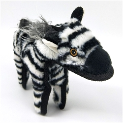 Zebra Dog Toy w/ Tennis Ball