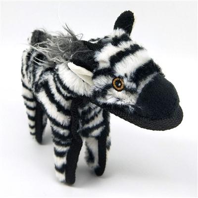 Zebra Dog Toy w/ Tennis Ball